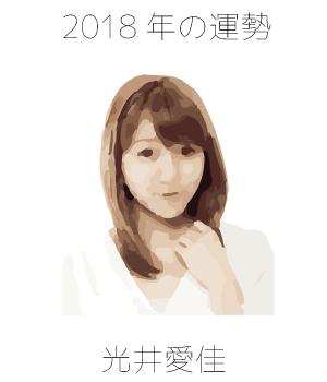 2018年の光井愛佳さんを占ってみた