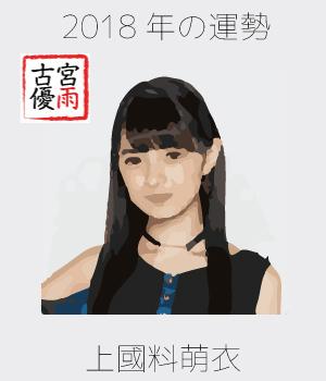 2018年のアンジュルムの4期メンバー「上國料萌衣」さんを占ってみた
