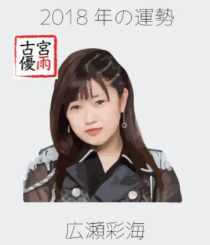 2018年のこぶしファクトリーのメンバー「広瀬彩海」さん