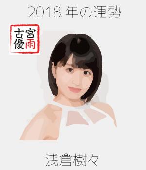2018年のつばきファクトリーのメンバー「浅倉樹々」さん