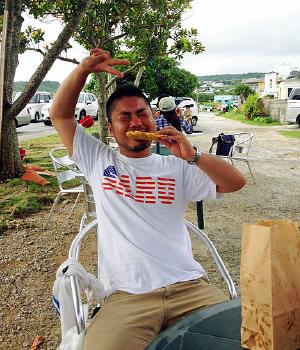 奥武島で天ぷらを食す!